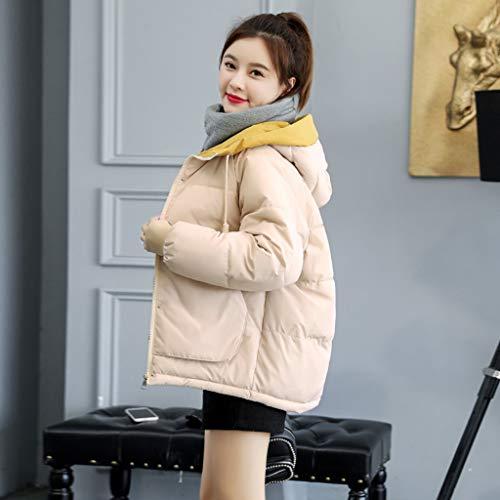 DJL Winter vrouwen katoenen jas korte paragraaf dikke grote maat winter kleding