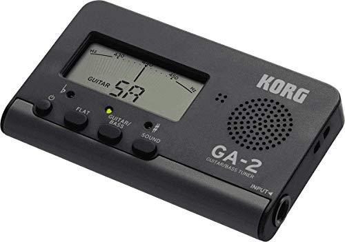 KORG Handheld Tuner, Stimmgerät mit Klinkeneingang, für Gitarre und Bass, Flat-Tuning, Referenztöne, schwarz