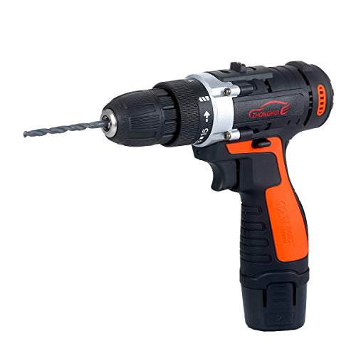 Beautiful happy Driller 12V Cordless Drill/Driver Kit 1400rpm Variable Speed Polisher Car Buffer Waxer Set Power Screwdriver with Light Rechargeable with 5 Bits (Color : -, Size : -)
