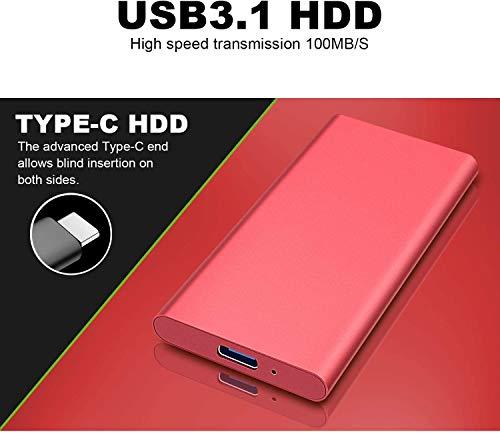 Disco duro externo portátil de 2 TB, actualiza el disco duro externo delgado para PC, portátil, Mac, Chromebook, Smart TV plata 2 tb miniatura