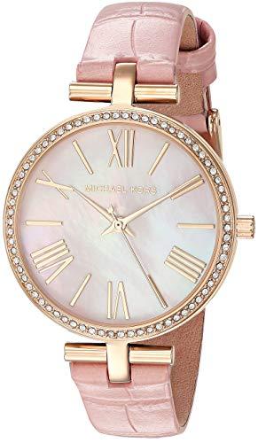Michael Kors Damen Analog Quarz Uhr mit Leder Armband MK2790