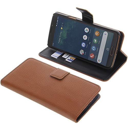 Tasche für Doro 8080 Book Style braun Kreditkarte Schutz Hülle Buch
