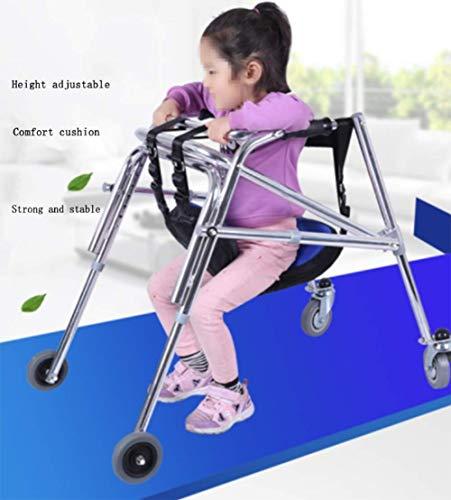 OUTGJL Kinder Gehgestell Gehrahmen Faltbare Gehhilfe Reha-Trainingswanderer Für Kinder Reha-Trainingsständer Für Die Unteren Gliedmaßen Klappbar