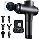 Graduation Gifts for Men Muscle Massage Gun, 20 Speeds Deep Tissue Percussion Massager Gun for Relaxation, Handheld Electric Body Massager for Neck and Back Leg Muscle,Carry Case & 6 Heads Included