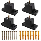 4 Pack Anti-Vibration Air Conditioner Mounting Bracket Shock-Proof Pads Rubber Vibration Isolator Mounts for Outdoor Air Conditioner Accessories