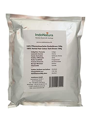 IndoNatura 100% Tinte Herbal Colore marrón oscuro 500g