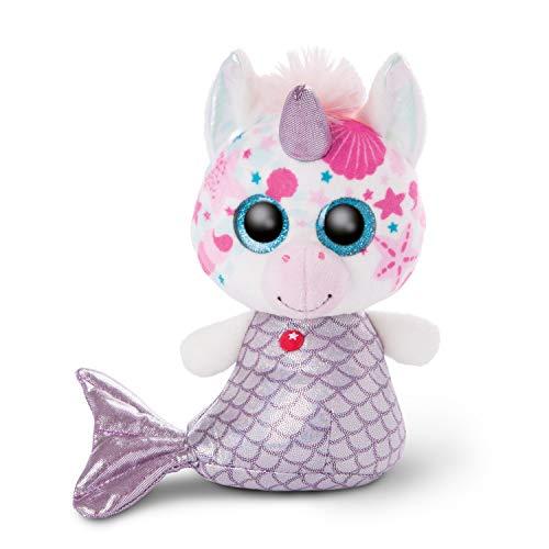 NICI 46826 Original-Glubschis Meerjungfrau Einhorn Pearlie 15cm-Kuscheltier Augen – Flauschiges Plüschtier mit großen Glitzeraugen – Schmusetier für Kuscheltierliebhaber