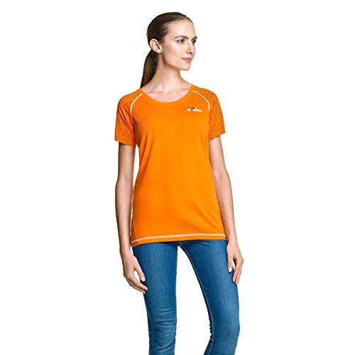 NoOrange dames T-shirt oranje, sportief shirt met korte mouwen met hoog aandeel katoen