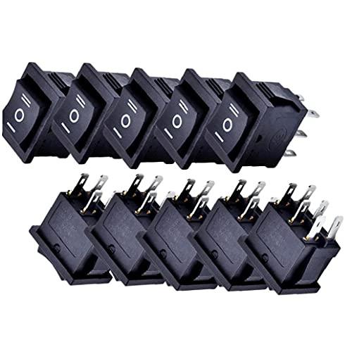 Froiny 10pcs Mini Rocker Switches Barco Encendido-Apagado para Interruptor De Alimentación Mini Electrodomésticos