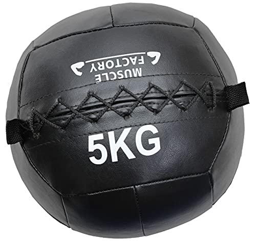 MUSCLE FACTORY メディシンボール ソフト ウォールボール 体幹 トレーニング 筋トレ 5kg