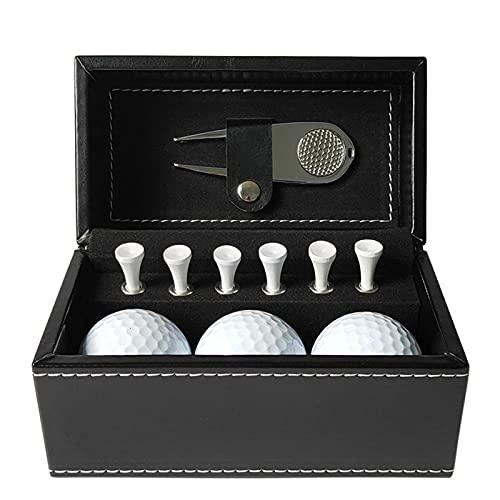 Peahog Juego de 3 pelotas de golf de piel sintética de color...