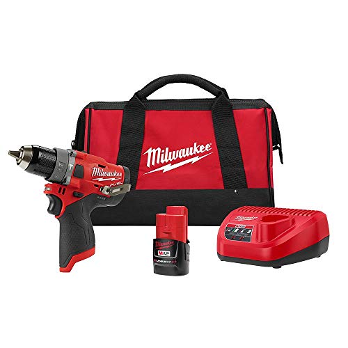 Milwaukee 2504-21 M12 FUEL CP Brushless Lithium-Ion 1/2 in. Cordless Hammer Drill Driver Kit (2 Ah)