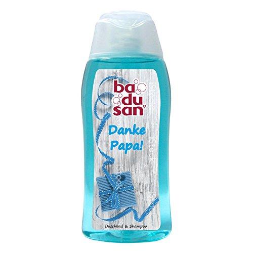 11er Pack badusan Duschbad Sportlicher Duft Danke Papa! 11 x 200 ml langanhaltende Frische Duschgel Körperpflege Duschen Pflegedusche Showergel