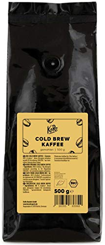 KoRo - Bio Cold Brew Kaffee 500 g - Gemahlener Kaffee - Sehr bekömmlich und einfach zuzubereiten