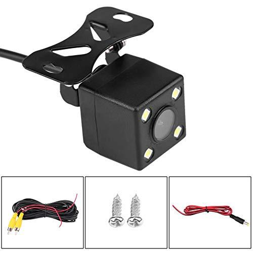Achteruitrijcamera, 4 leds, auto-achteruitrijcamera, vervangende parknachtzicht-achteruitrijcamera, waterdicht IP66