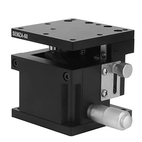 SEMZA-60 Z Linear Stage, 60x60x50mm Z Micrometer Manual Precision Linear Translation Stage Platform Z Axis Linear Stage Cross Roller Guide