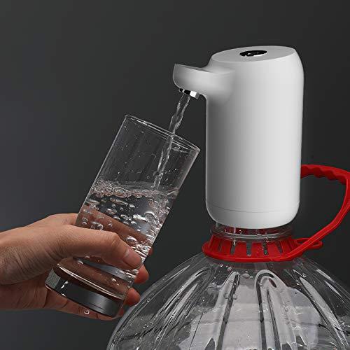 Nuevo distribuidor de agua eléctrico para uso doméstico, LTXDJ Bomba eléctrica de agua de la prensa de agua 1,4 L/min Carga USB presurizada automática para barriles de 5, 10, 15 y 18,9 litros