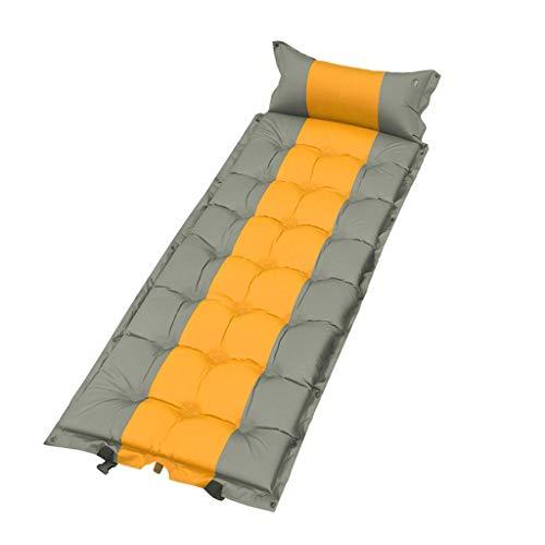 Tente extérieure Sleeping Pad Tapis Gonflable Automatique Coussin d'humidité Ultra Light Adventure Randonneur Tapis de Loisirs Peut être épissé Xuan - Worth Having (Color : Yellow Ash)