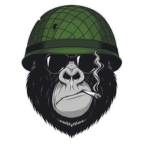 11x15cm bunte Autoaufkleber Rauchen Sonnenbrille Orang-Utan Soldaten lustige Autoaufkleber und Abziehbilder
