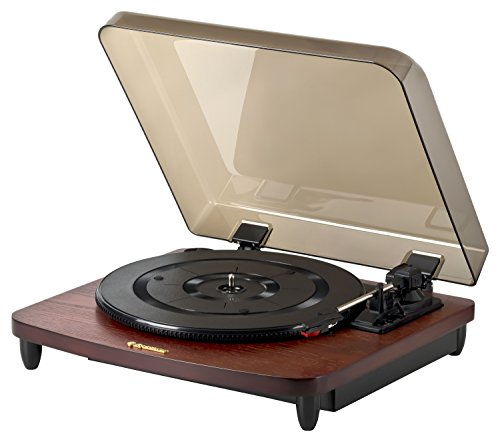 Roadstar TT-380 BT-T Retro platenspeler met Bluetooth (33/45/78 rpm, auto-stop, auto-return, line-out) mahoniekleuren