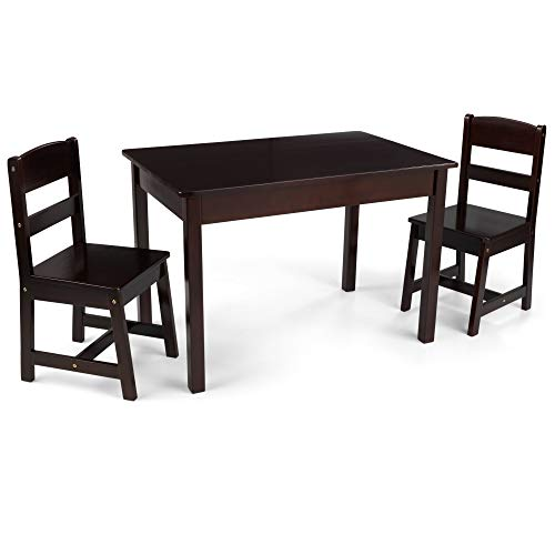 KidKraft Wooden Rectangular Table & 2 Chair Set for Kids - Espresso, Gift for Ages 5-8