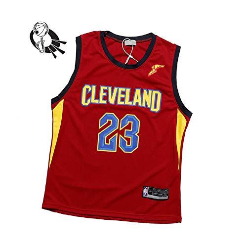 S-XXL Camiseta de baloncesto hombre James #23 Cavaliers Negro bordado de manga corta
