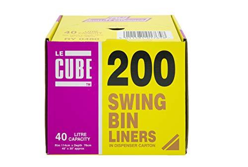 Le Cube 480 – Dispensado de bolsas de basura, 40 L (200 un