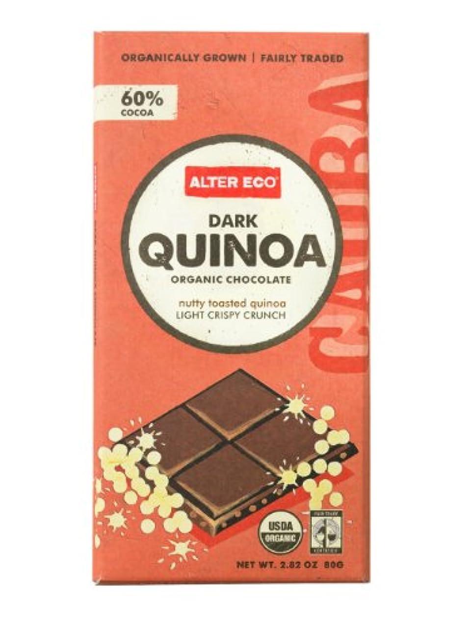 Alter Eco   Dark Quinoa Crunch   60% Pure Dark Cocoa, Fair Trade, Organic, Non-GMO, Gluten-Free Dark Chocolate Bar, Single Bar