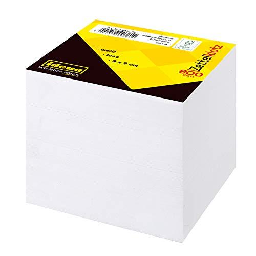 Idena 10442 - Zettelklotz, FSC-Mix, 9 x 9 cm, 800 Blatt lose, weiß, 1 Stück