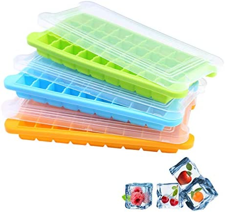 HIOHI Silicone Ice Cube Trays 3 Pack Flexible 108 Cavity Ice Cube Molds ice trays with covers product image