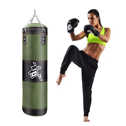 XHLLX Bolsa De Perforación Colgando Boxeo Bolso Pesado Kicking Boxeo Pesado MMA Entrenamiento Punzonos Mits Cadena Colgante Muay Thai Arts Martial