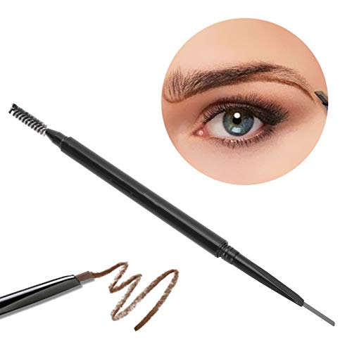 Waterproof Eyebrow Pencil with Brow Brush, Double‑Ended Mechanical Ultra‑Fine Long-Lasting Eyebrow Pen Cosmetic Tool Makeup Supplies (Soft Brown)