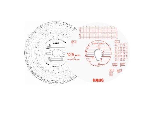 RNK Tachoscheiben 125 km/h Combi, Haug-Nr. 125 100/3100 Ø12 cm Inh.100