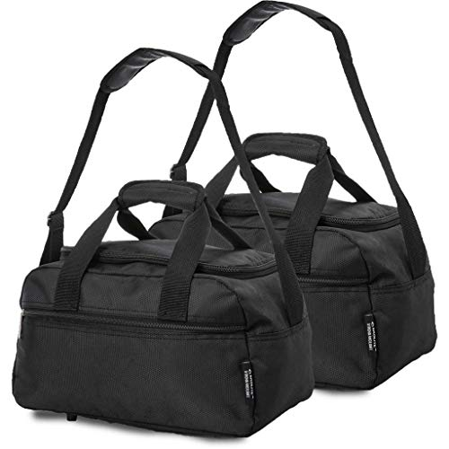 Aerolite 40x20x25 New 2020 Ryanair Maximum Size Holdall Cabin Luggage Under Seat Flight Bag (X2 Black)
