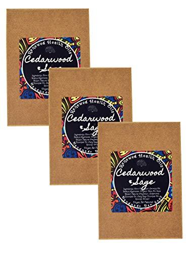 Cedarwood Sage Bar Soap Handmade Bulk Family Pack All-In-One HAIR/BEARD/BODY 100% Pure Essential Oils No Synthetic Fragrances Added (3) 4.5 oz Vegan