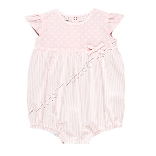 Baby Mädchen Sommer Overall Einteiler Body Pastell rosa Modell Ballerina 14 (62)
