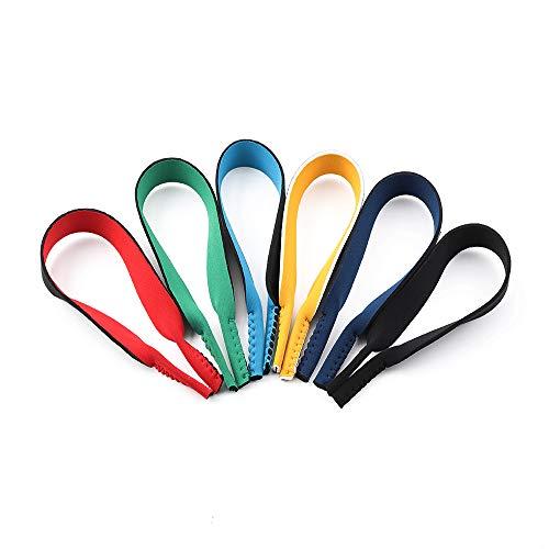 Surplex 6 Pack Neopren Elastic Cord Gläser Retainer Strap Band für Sport Brillen und Sonnenbrillen, Brillen Halter Strap Gläser Kopf Band Floater Anti-Rutsch-elastische Schnur für M