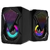 Altavoces de computadora con cable USB Home Gaming Audio Audio portátil para Tablet Tablet Herramientas Negro Gratis