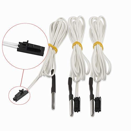 FYSETC Prusa i3 MK3 Upgrade Hotend Teile, HT-NTC100K Thermistor Sensor für hohe Temperatur + 300 Grad 2 Pins für Reprap 3D-Drucker MK3 Extruder Heizblock