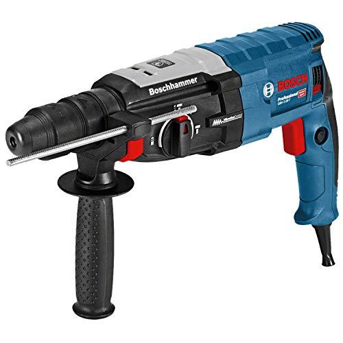 Bosch Professional Martillo perforador GBH 2-28 F (880 vatios, perforación de hormigón de Ø máx.: 28 mm, incl. juego de taladro-cincel de 6 piezas, SDS-plus, en L-Case) - Amazon Edición