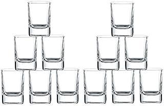 King International 2 Oz Shot Glass, Heavy Base Straight Shot Glass, Whiskey Shot Glass 12-Pack Perfect for Wine Tasting, Tequila, Shooter, Cocktail Pourer, Jigger-clear glass shot glasses-60ml