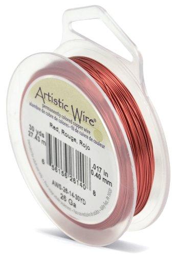 Artistic Wire Beadalon Fil de cuivre Calibre 26 27,43 m Fil Rouge