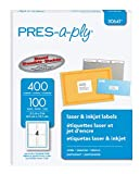 PRES-a-ply Labels for Laser & Inkjet Printers, 3.5 x 5, White, Box of 400 (30641)