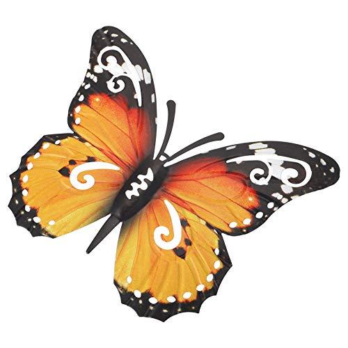WINOMO, decorazione da parete in metallo con farfalla 3D, decorazione da parete per il soggiorno, decorazione da parete per il balcone, la terrazza, decorazione da giardino