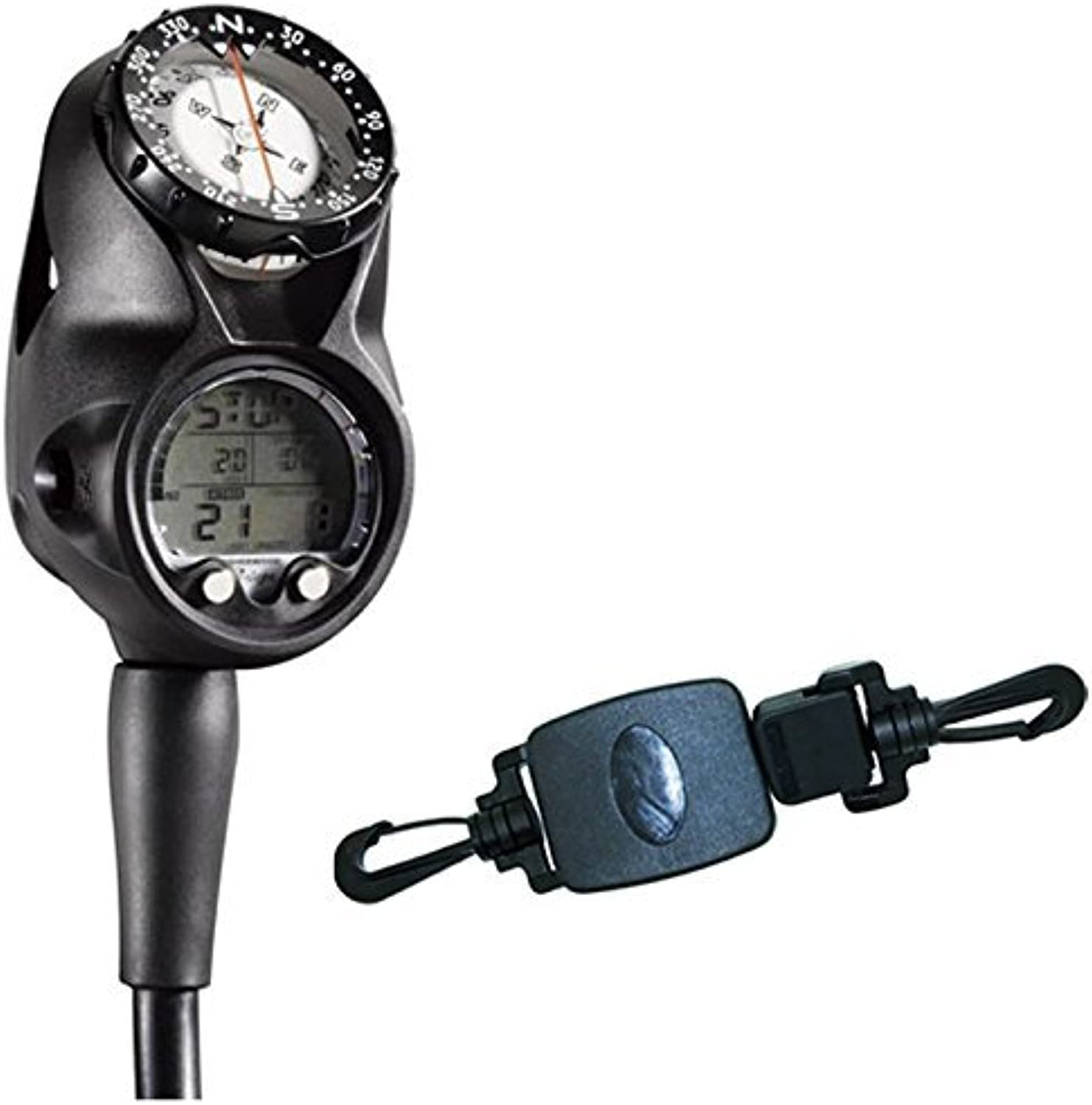 Sherwood Insight Scuba Dive Computer  Navigational Console (CR3709) w  FREE Small MultiPurpose Retractor with Dual Clips