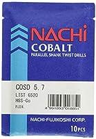 NACHi(ナチ)ハイスドリル コバルトストレートシャンクドリル COSD 5.7mm (10本入)
