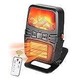 Calefactor Eléctrico, Mini Calentador De Ventilador, Calentador De Escritorio Portátil De Bajo Consumo De Energía 1000 Vatios con 2 Ajustes De Temperatura para Hogar&Oficina