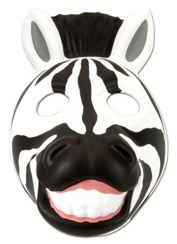 Wild Republic- Grinimals Mscara Careta de Cebra, Color negro/blanco (14277)