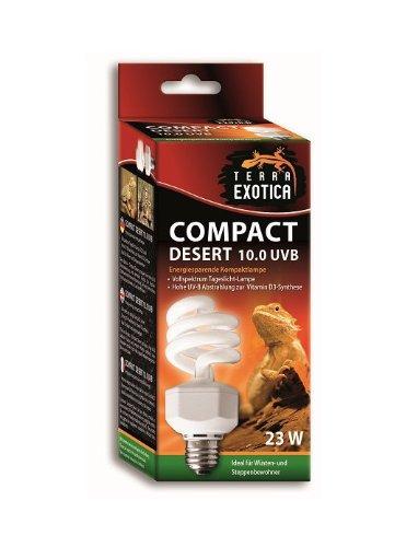 Terra Exotica Compact Desert 10.0 UVB Ideal für Reptilien aus Wüsten und Steppen z.B Bartagamen