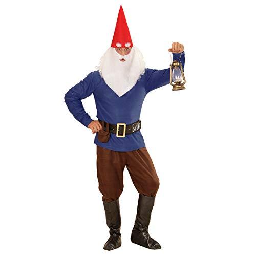 NET TOYS Originelles Herren-Kostüm Zwerg - Blau L (52) - Extravagante Männer-Verkleidung Kobold Faschingskostüm - Ideal für Fasching & Karneval